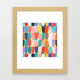 Colourful Dots Framed Art Print