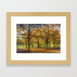 Greenwich Park London Pastel Framed Art Print