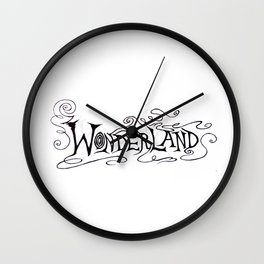 Wonderland Ahead Wall Clock