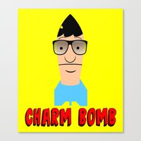 tina belcher Canvas Prints featuring Charm Bomb  |  Tina Belcher  by Silvio Ledbetter