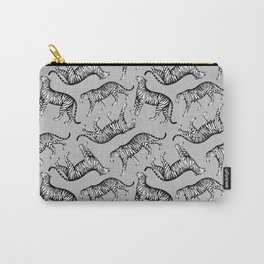 Tigers (Gray and White) Carry-All Pouch