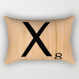 Scrabble Letter Tile - X Rectangular Pillow