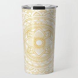 Gold Bali Mandala Travel Mug