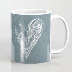 Ornament zentangled heart Mug