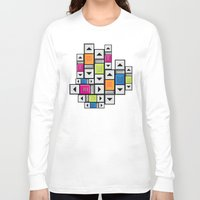 popart Long Sleeve T-shirts featuring ScrollBar PopArt by Roberlan Borges