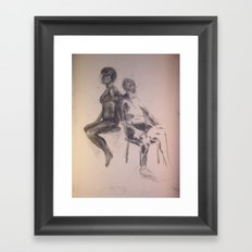 Age Difference Framed Art Print