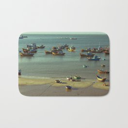Fishing village Bath Mat
