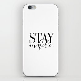 Stay Awhile Art Print - Digital Download - Stay Awhile Print - Stay Awhile Poster iPhone Skin