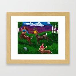 Cervitaurs At Play Framed Art Print