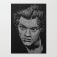 harry styles Canvas Prints featuring Harry Styles by Jen Eva