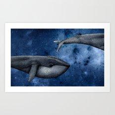 The Whale Who Met  Itself. Art Print