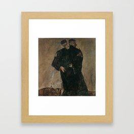 The Hermits by Egon Schiele Framed Art Print