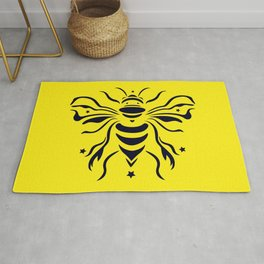 Save the bumblebee by #Bizzartino Rug