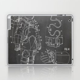 Nasa Apollo Spacesuite Patent - Nasa Astronaut Art - Black Chalkboard Laptop & iPad Skin