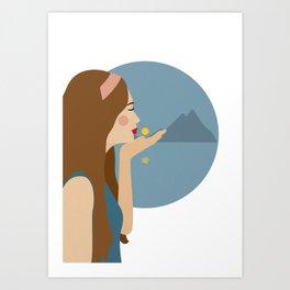 Sun kiss Art Print