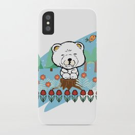 Chow Chow in the forest iPhone Case