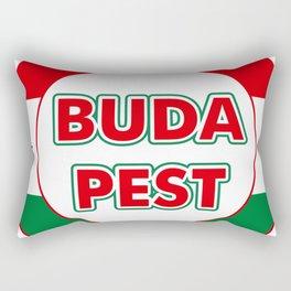 Budapest, circle, color Rectangular Pillow