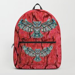 Colorful Owl Pattern Backpack