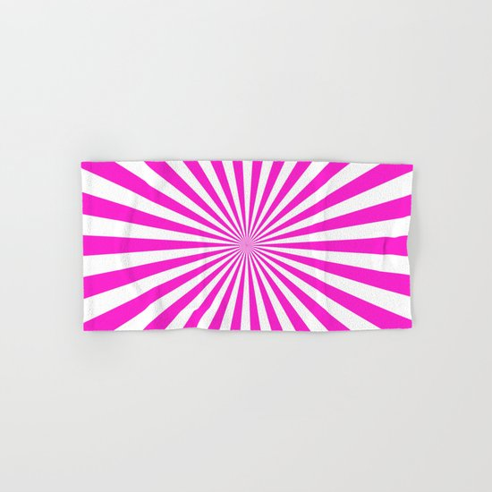 Starburst (Hot Magenta/White) Hand & Bath Towel