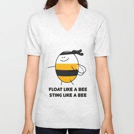 Float Like a Bee! Unisex V-Neck