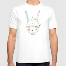 うさぎドロップ [Usagi doroppu] 토끼드롭 Mens Fitted Tee White MEDIUM