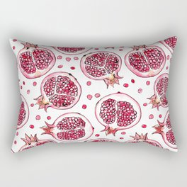 Pomegranate watercolor and ink pattern Rectangular Pillow