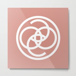 Dusty Rose Coco Cashmere Metal Print