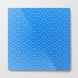 Blue Mosaic Metal Print