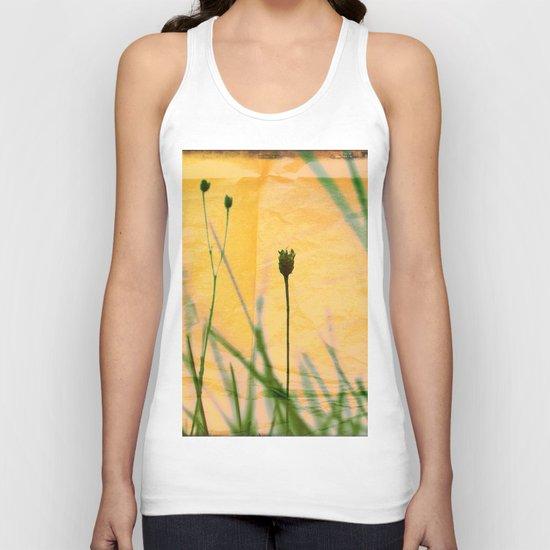 Polaroid photo yellow flower Unisex Tank Top