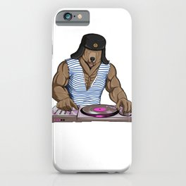 Russia Disc Jockey Bear iPhone Case