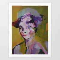 beth hoeckel Art Prints featuring beth by Dan Feit