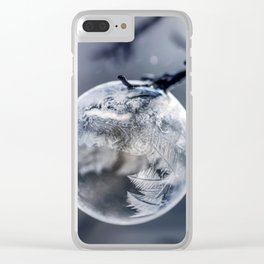 When the world freezes Clear iPhone Case