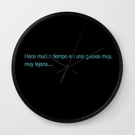 Espanol Wars Wall Clock