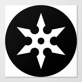 Ninja Shuriken Ideology Canvas Print