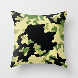 Skull camo patter. Abstract military design. Camouflage digital paper Throw Pillow