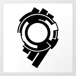 Ghost in the Shell - Symbol Art Print
