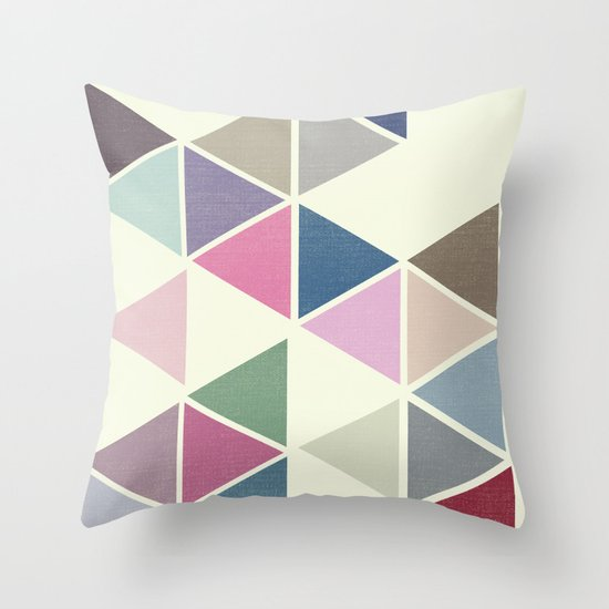 T R I _ N G L S Throw Pillow