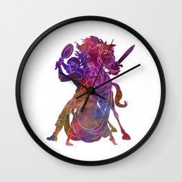 Rapunzel and friends in watercolor Wall Clock