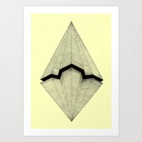 planes Art Prints featuring Paper Planes by Rui Ribeiro