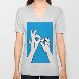 ASL Interpret Unisex V-Neck