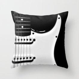 Stratocaster Black Body Throw Pillow