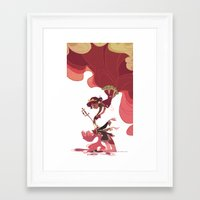 utena Framed Art Prints featuring For the Rose Bride by Ann Marcellino