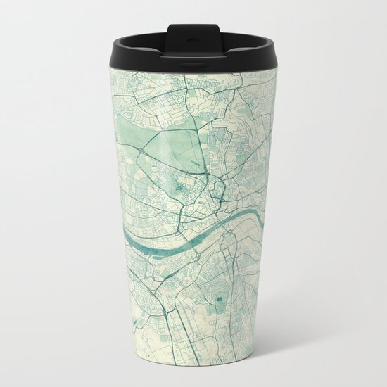 Newcastle upon Tyne Blue Vintage Metal Travel Mug