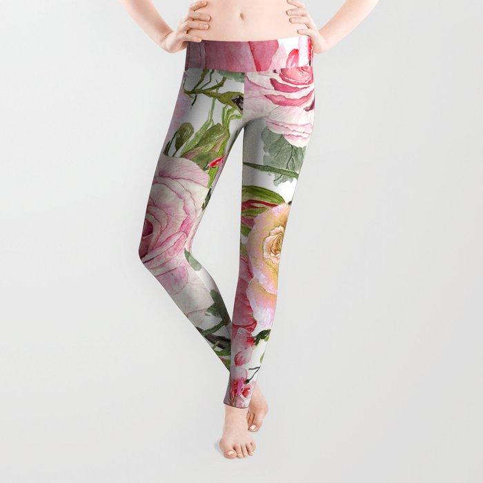 Watercolor Roses #1 Leggings