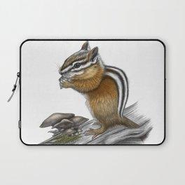 Chipmunk and mushrooms Laptop Sleeve
