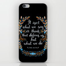 What Defines Us (Dark) iPhone & iPod Skin