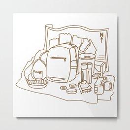 Art Line Travel Accessories Metal Print