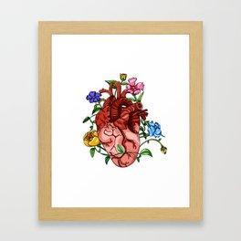 An Overgrown Floral Heart Framed Art Print