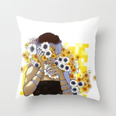 Sleep Under the Petals Throw Pillow