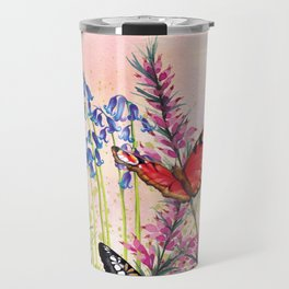 Wild meadow butterflies Travel Mug